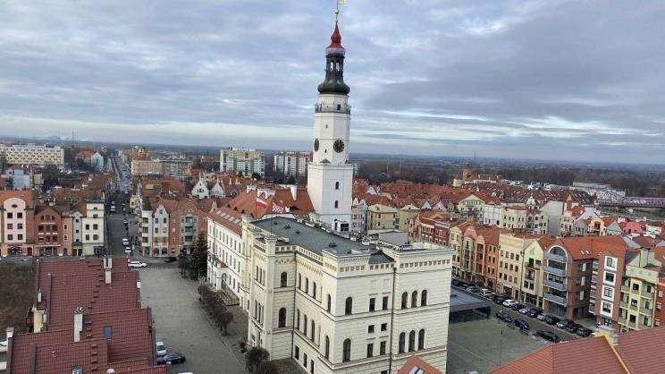 Ratusz - widok z wieży Bożego Ciała (fot. K. Brzezińska)