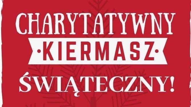 plakat Charytatywny Kiermasz Świąteczny - Głogowskie Stowarzyszenie otwarte drzwi