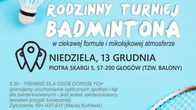 turniej badmintona zajawka