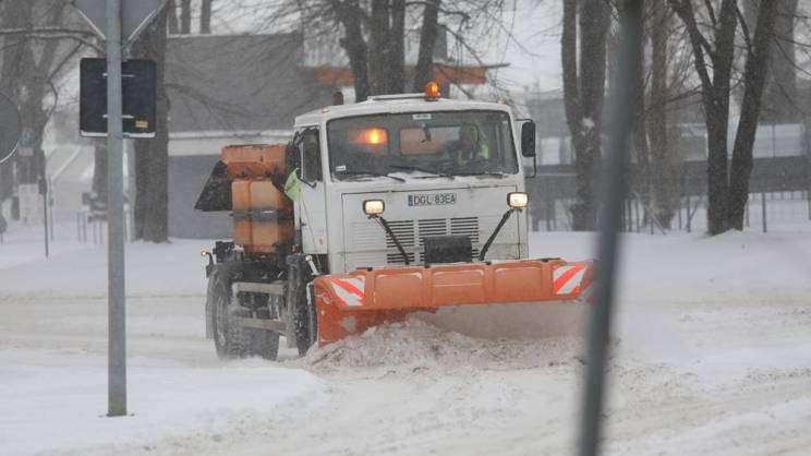 08.02.2021 pług w zimie Głogów, M. Kopmerda