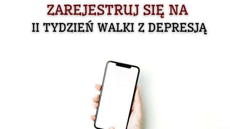 plakat zachęcający do rejestracji na konsultacje w ramach Tygodnia walki z Depresją