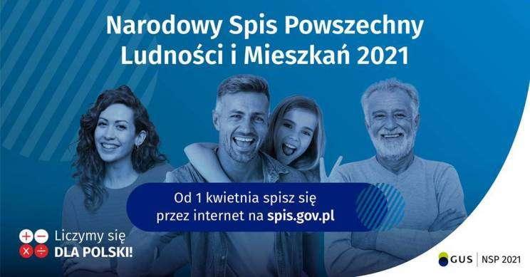 Powszechny Spis Ludności i Mieszkań 2021 plakat