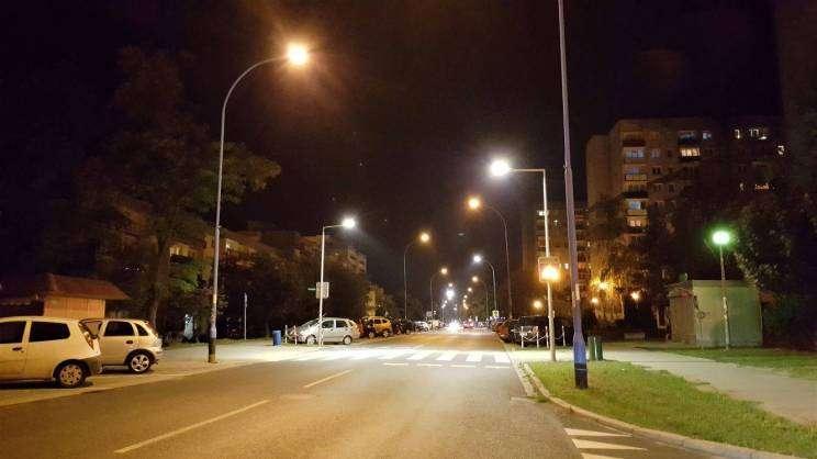 oświetlenie uliczne nocą w Głogowie, M.Siwek