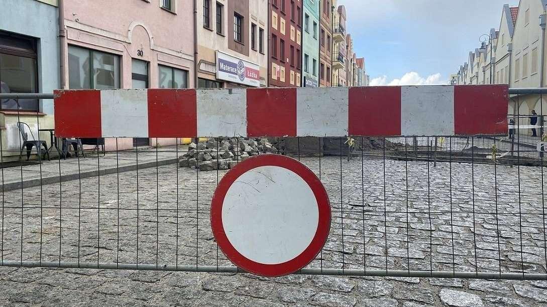 2021-05-20 zamknięta ul. Słodowa (fot. K. Brzezińska)