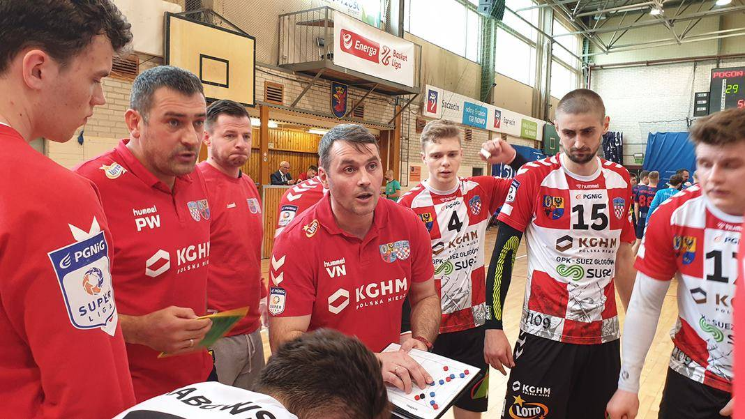 na zdjęciu drużyna SPR chrobry Głogów podczas meczu z Pogoń Szczecin 22.05.2021 Szczecin