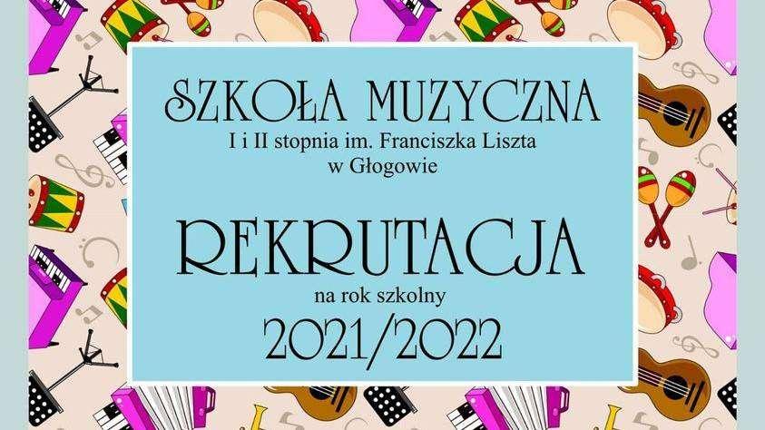 rekrutacja do szkoły muzycznej w Głogowie plakat