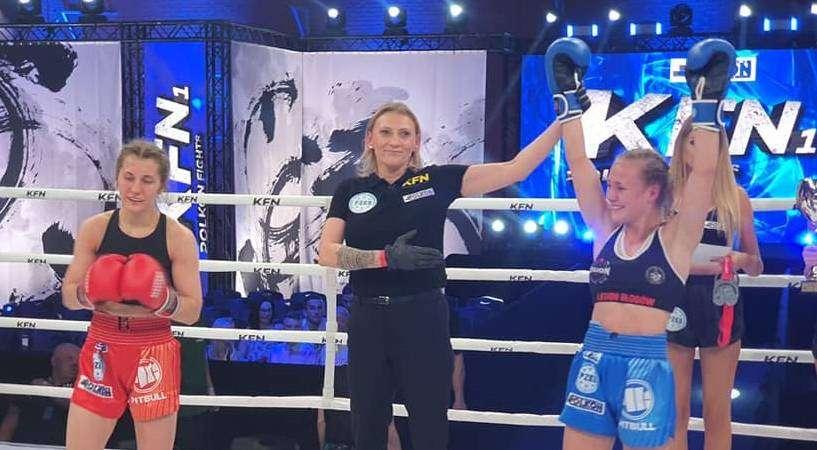 Martyna Kierczyńska Mistrzyni Polski w kikboxingu