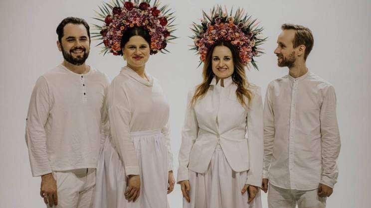 na zdjęciu czterech członków zespołu polsko-ukraińskiego Dagadana