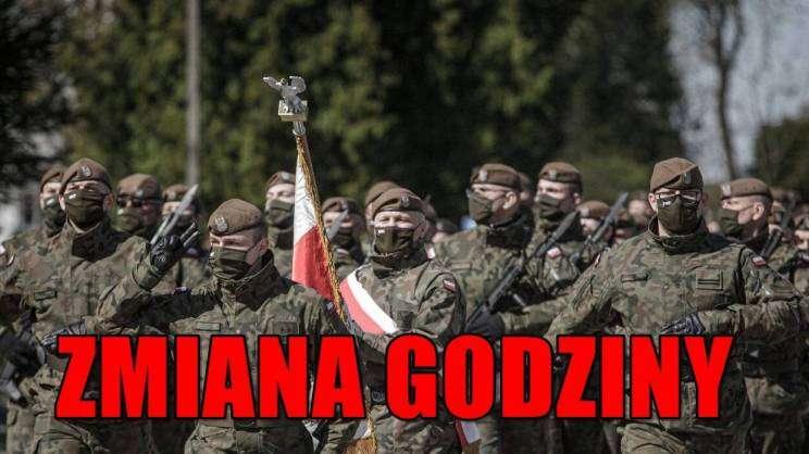 Wojska Obrony Terytorialnej przysięga wojskowa, WOT_zmiana godziny