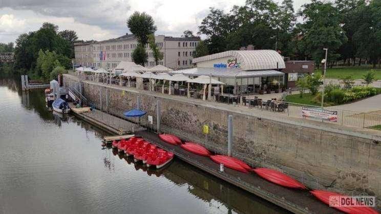 wypożyczalnia sprzętu wodnego na Marinie w Głogowie
