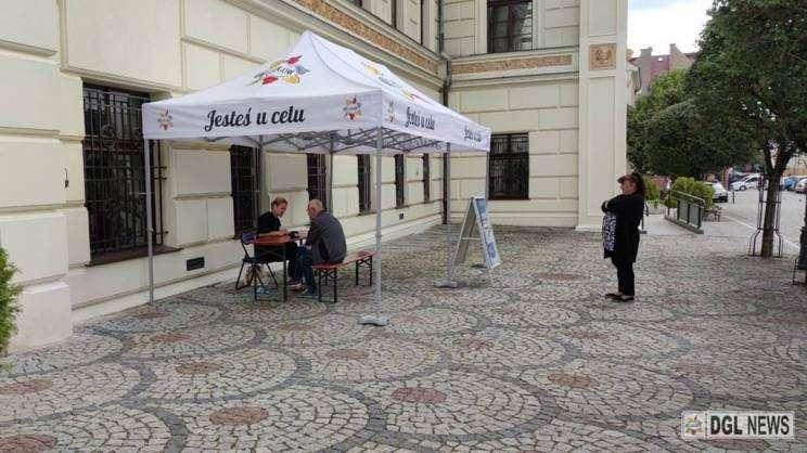 Mobilny Spis Ludności prz Urzędzie Miejskim w Głogowie.23.08.2021 1