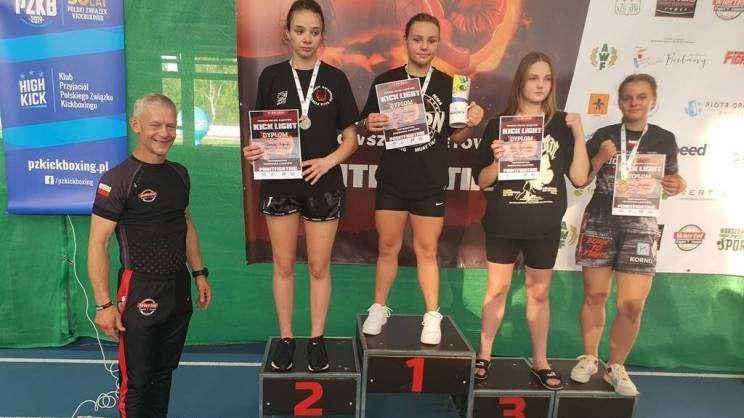 Na zdjęciu maja Młodecka na podium zawodniczka Legion Głogów zdobyła złoto w Pucharze Polski