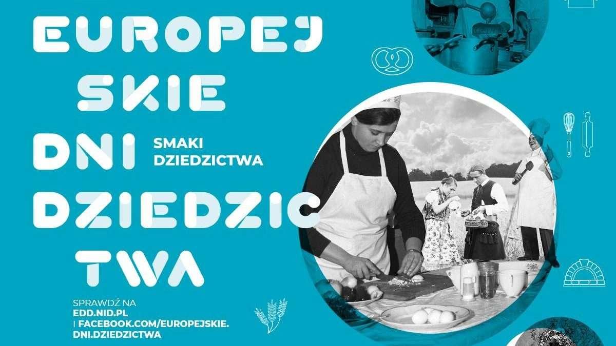 na zdjęciu plakat zapowiadający Europejskie Dni Dziedzictwa organizowane w Muzeum Archeologiczno-Historycznym w Głogowie