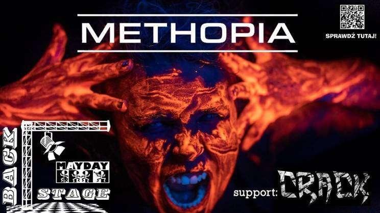 plakat koncertu zespołu Methopia - Mayday Backstage