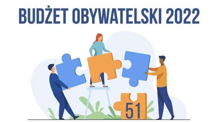 grafika Budżet Obywatlelski w Głogowie, ludziki informują że jest 51 wniosków