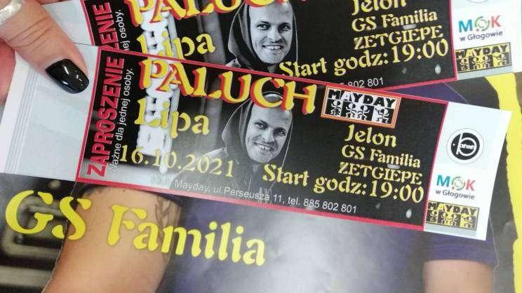 bilety na koncert Palucha w klubie Mayday w Głogowie