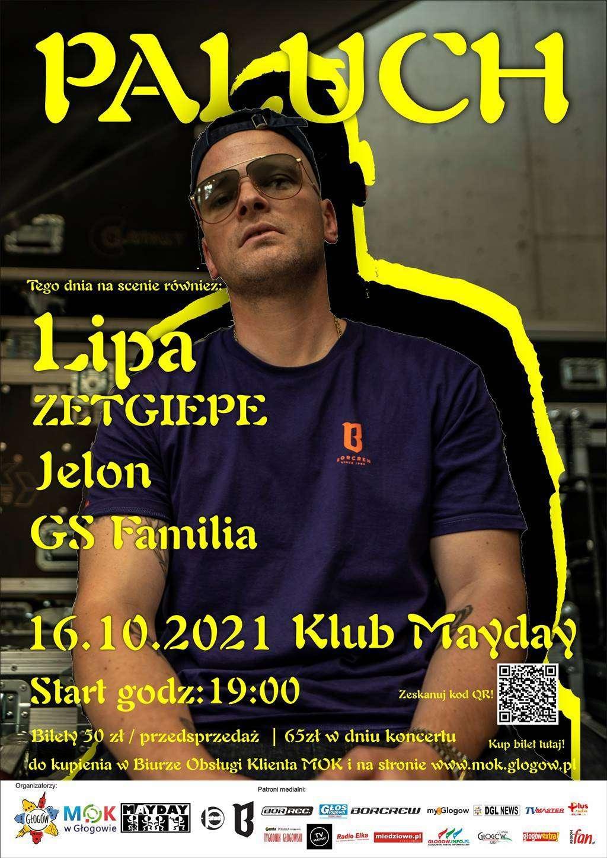 plakat promujący koncert hip hopowy w klubie mayday 16 października 2021 roku